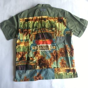 Vintage Tommy Jeans Hawaiian Truck Button Up Short